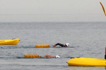 Canoes in morocco swim trek