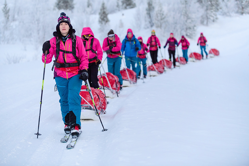 Lessons in Badassery Skiing Antarctica Coast-to-Coast Pink Jackets