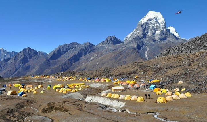 Hike Ama Dablam in Nepal with Mountaineer Holly Budge! camp