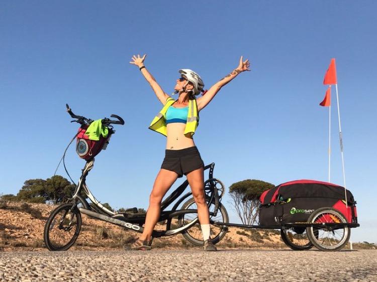Emma Timmis' 7951km Elliptigo ride across Australia
