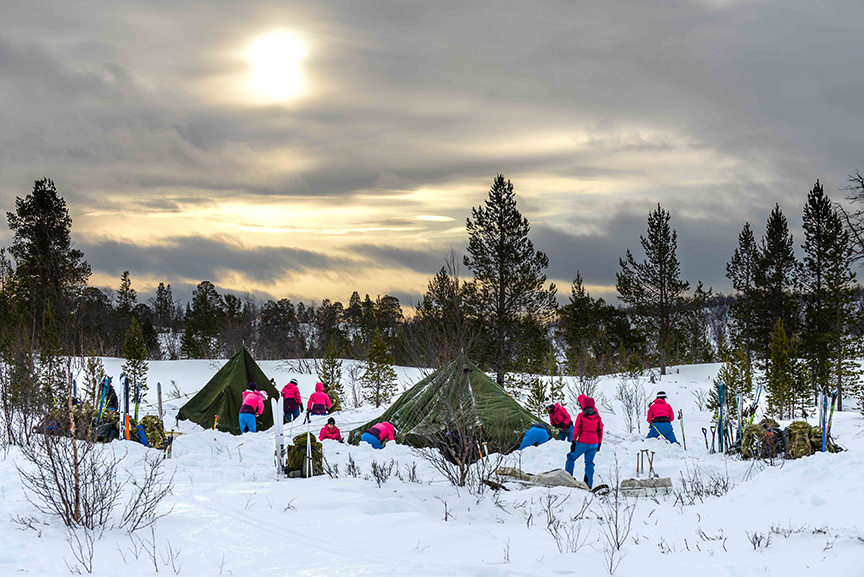 Lessons in Badassery Skiing Antarctica Coast-to-Coast sunset