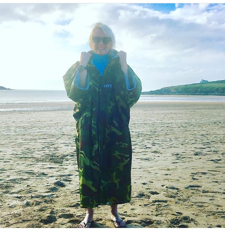 Lorraine Candy standing by the sea