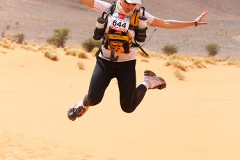 Lessons in Badassery Marathon des Sables finisher, Natalia Andreyeva jumping