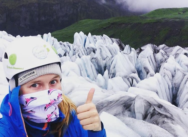 Lessons in badassery A DAY IN THE LIFE OF… Stephanie Langridge, Glacier Guide
