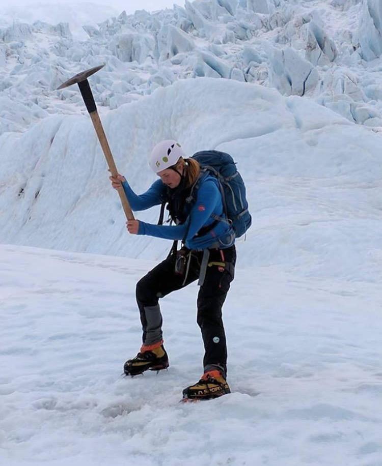 Lessons in badassery - Stephanie Langridge, Glacier Guide